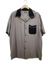 Varde77(バルデセブンティセブン)の古着「ヴィンテージボウリングシャツ」|グレー×ブラック