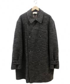 COMME des GARCONS HommePlus(コムデギャルソンオムプリュス)の古着「ダブルフェイスビッグコート」|ブラウン
