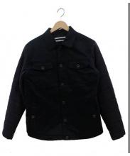 ROBERT GELLER(ロバートゲラー)の古着「中綿ウール切替デニムジャケット」|ブラック×グレー