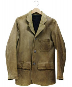 ISAMU KATAYAMA BACKLASH(イサムカタヤマ・バックラッシュ)の古着「レザージャケット」|オリーブ