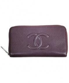CHANEL(シャネル)の古着「ココマーク長財布」|バーガンディー