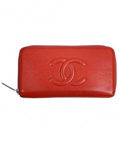 CHANEL(シャネル)の古着「ココマーク長財布」|オレンジ