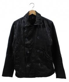 cathy jane(キャシージェーン)の古着「ラムレザージャケット」 ブラック