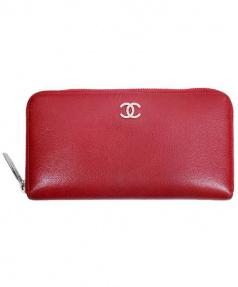 CHANEL(シャネル)の古着「長財布」|レッド