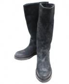 BUTTERO(ブッテロ)の古着「スウェードブーツ」|ブラック