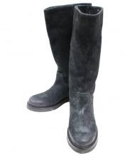 BUTTERO(ブッテロ)の古着「スウェードブーツ」 ブラック
