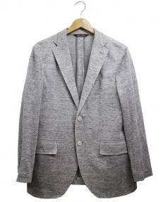 ILFARO(イルファーロ)の古着「リネン混テーラードジャケット」 グレー