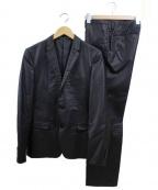 blackbarrett(ブラックバレット)の古着「シャイニー2Bスーツ」 ブラック