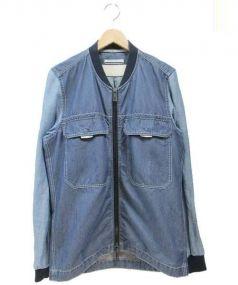 ANDREA POMPILIO(アンドレアポンピリオ)の古着「切替ブルゾン」|ブルー