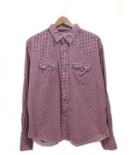 TENDERLOIN(テンダーロイン)の古着「ウエスタンシャツ」|ホワイト×レッド