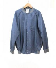 alk phenix(アルク フェニックス)の古着「ブルゾン」|ブルー×グレー