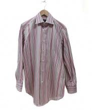 ETRO(エトロ)の古着「ドレスシャツ」|パープル×ホワイト