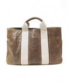 genten(ゲンテン)の古着「レザートートバッグ」|ブラウン