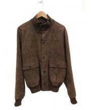 BARNEYS NEWYORK(バーニーズ・ニューヨーク)の古着「スウェードレザージャケット」|ブラウン