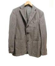 LARDINI(ラルディーニ)の古着「リネン混テーラードジャケット」|グレー