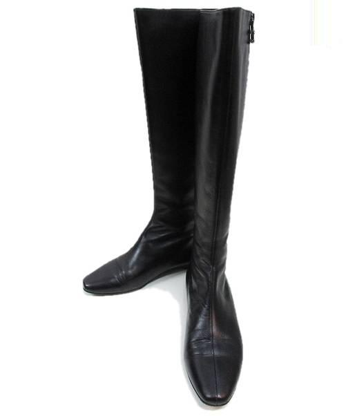 0822a42db9ef 中古・古着通販】CHANEL (シャネル) ロングブーツ ブラック サイズ:37 1 ...