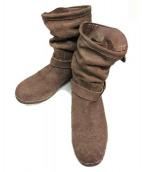 BACKLASH(バックラッシュ)の古着「エンジニアブーツ」 ベージュ