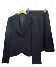 TO BE CHIC(トゥー ビー シック)の古着「セットアップスカートスーツ」|ブラック