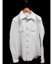 RED MOON(レッドムーン)の古着「ホースハイドレザーシャツ」|ホワイト
