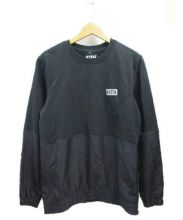 KITH(キス)の古着「スリーブ切替スウェット」|ブラック