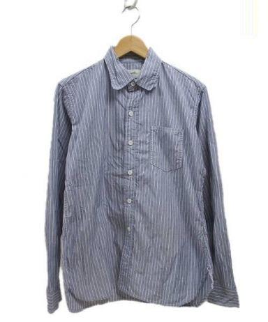 Tradition Mills (トラディション ミルズ) ストライプシャツ ブルー サイズ:S表記 ストライプ