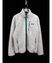 Patagonia(パタゴニア)の古着「フリースジャケット」 ベージュ×グリーン