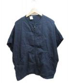 N.HOOLYWOOD(エヌ ハリウッド)の古着「ドルマンスリーブS/Sブルゾン」 ネイビー