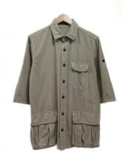 roar(ロアー)の古着「バックプリント7分袖シャツジャケット」|カーキ
