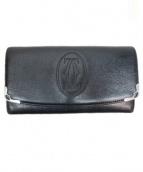 Cartier(カルティエ)の古着「長財布」 ブラック