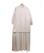 MIHARA YASUHIRO(ミハラヤスヒロ)の古着「シアープリーツ スウェットワンピース」|ベージュ