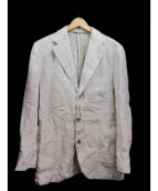 Belvest(ベルベスト)の古着「リネンテーラードジャケット」|ベージュ
