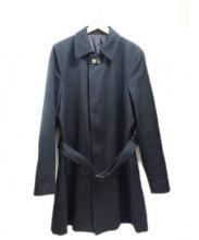 LARDINI(ラルディーニ)の古着「ステンカラーコート」 ブラック