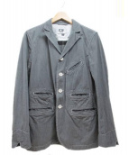 Engineered Garments(エンジニアードガーメンツ)の古着「ブラックシャンブレージャケット」|グレー