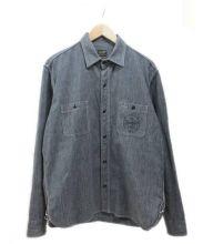 TENDERLOIN(テンダーロイン)の古着「ブラックシャンブレーシャツ」|ブラック