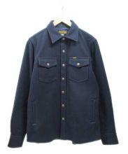 IRON HEART(アイアンハート)の古着「ウールシャツ」|ネイビー