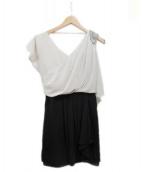 GRACE CONTINENTAL(グレースコンチネンタル)の古着「ブラウスワンピース」|ホワイト×ブラック