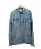 REMI RELIEF(レミレリーフ)の古着「デニムシャツ」|インディゴ
