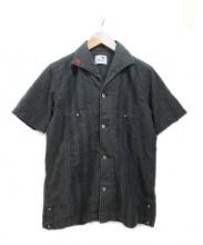 GANGSTERVILLE(ギャングスターヴィル)の古着「半袖シャツ」|ダークグレー