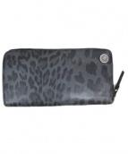 PUERTA DEL SOL(プエルタ デル ソル)の古着「レオパード柄財布」|グレー×ブラック