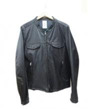 Shama(シャマ)の古着「レザージャケット」|ブラック