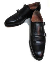 SCOTCH GRAIN(スコッチグレイン)の古着「ダブルモンクレザーシューズ」|ブラック