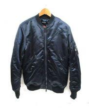 DIESEL(ディーゼル)の古着「MA-1ジャケット」 ネイビー