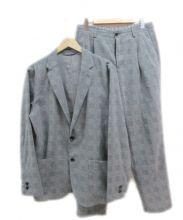 グリーンレーベル リラクシング× KOMATSU(green label relaxing×コマツ)の古着「セットアップシジャケット」|グレー