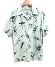 WACKO MARIA(ワコマリア)の古着「オープンカラーシャツ」|エメラルドグリーン