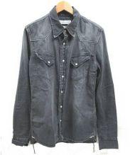 REMI RELIEF(レミレリーフ)の古着「デニムシャツ」|ブラック
