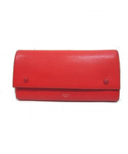 CELINE(セリーヌ)の古着「レザー長財布」|オレンジ
