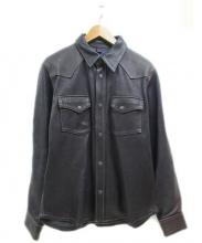 THE FLAT HEAD(ザフラットヘッド)の古着「デイアスキンレザーシャツ」|ブラウン
