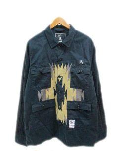 NEIGHBORHOOD×adidas originals(ネイバーフッド×アディダス オリジナルス)の古着「ミリタリージャケット」|ブラック
