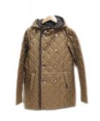 LAVENHAM(ラベンハム)の古着「フーデッドキルティングジャケット」|カーキ