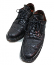 foot the coacher(フットザコーチャー)の古着「ウィングチップシューズ」 ブラック